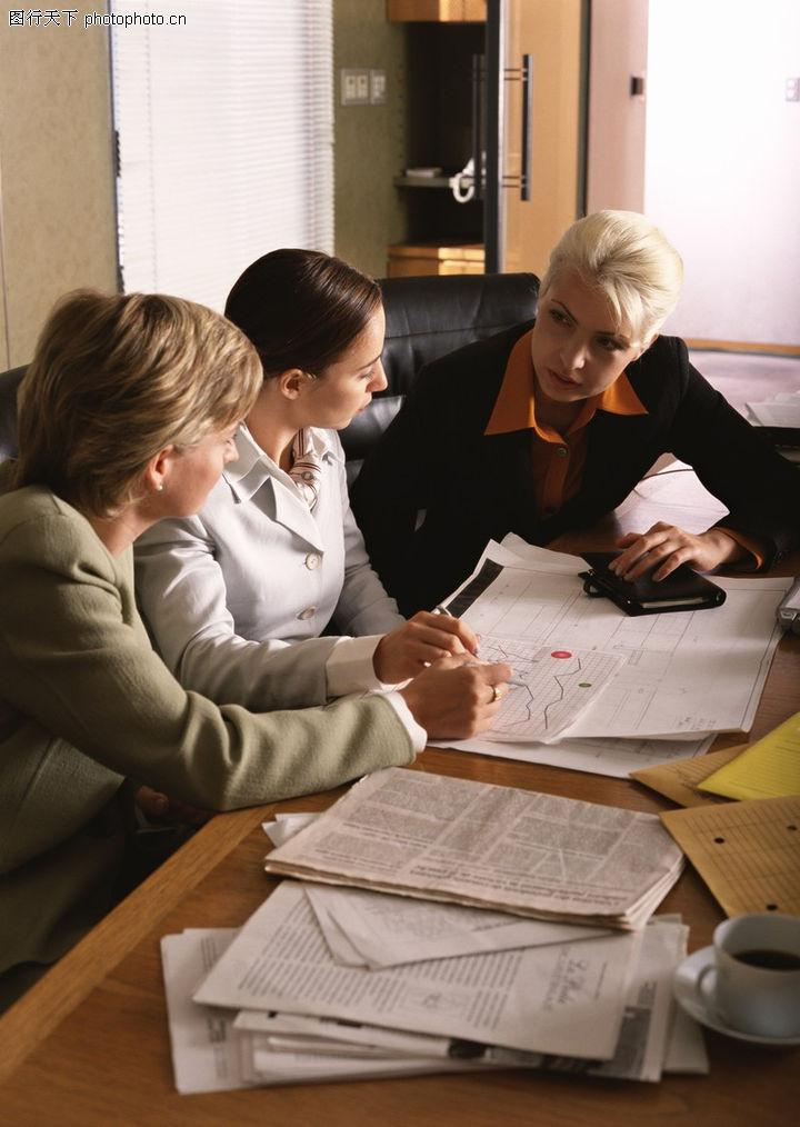 商业交流,商业金融,女性 谈论 办公室,商业交流0280