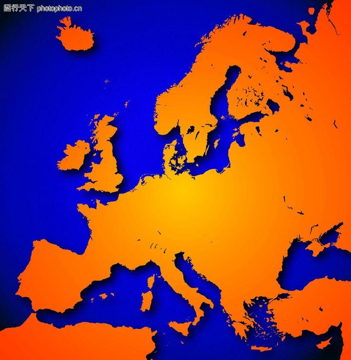 轮廓 西欧 西方 地球