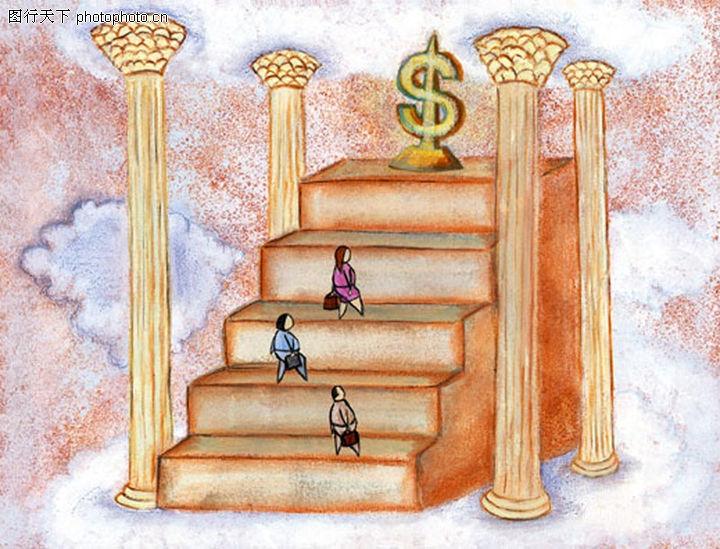 柱子 爬楼梯