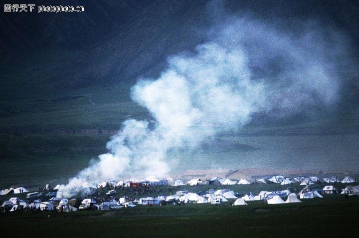 草原蒙古包风景图片 草原蒙古包简笔画