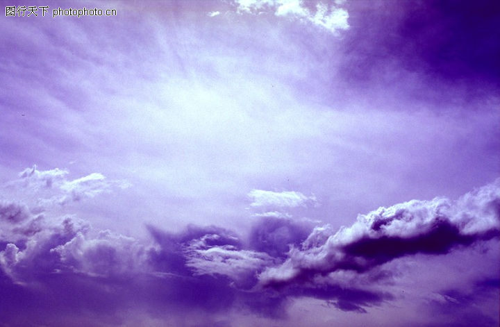 蓝天白云,自然风景,太阳