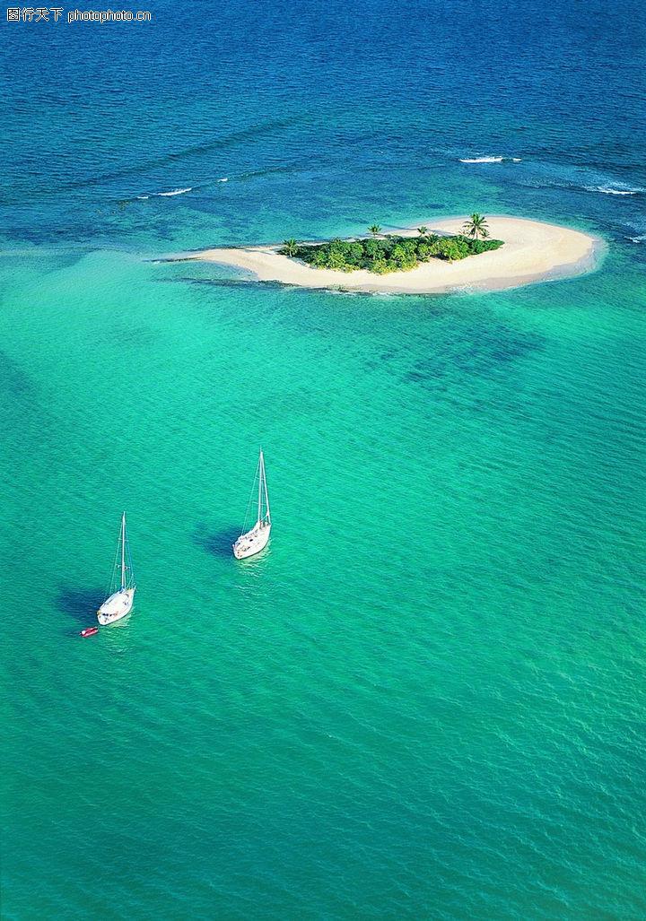 沙滩大海,自然风景,帆船 碧水 孤洲 出行 波浪,沙滩大海0121