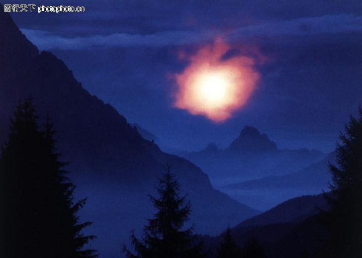 自然世界,自然风景,夜晚 晚上 岛屿,自然世界0044