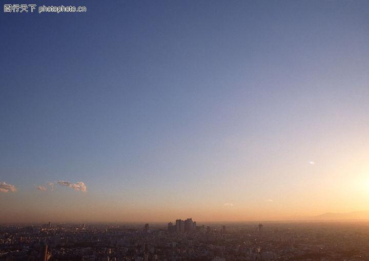 城市建筑0062 城市建筑图 建筑图库 清晨 阳光 黄澄澄