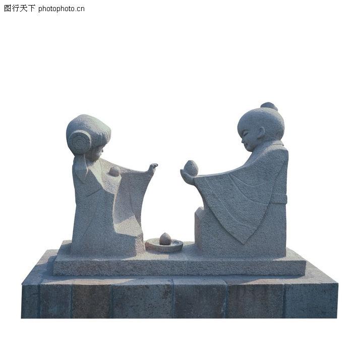 小孩雕塑模型下载