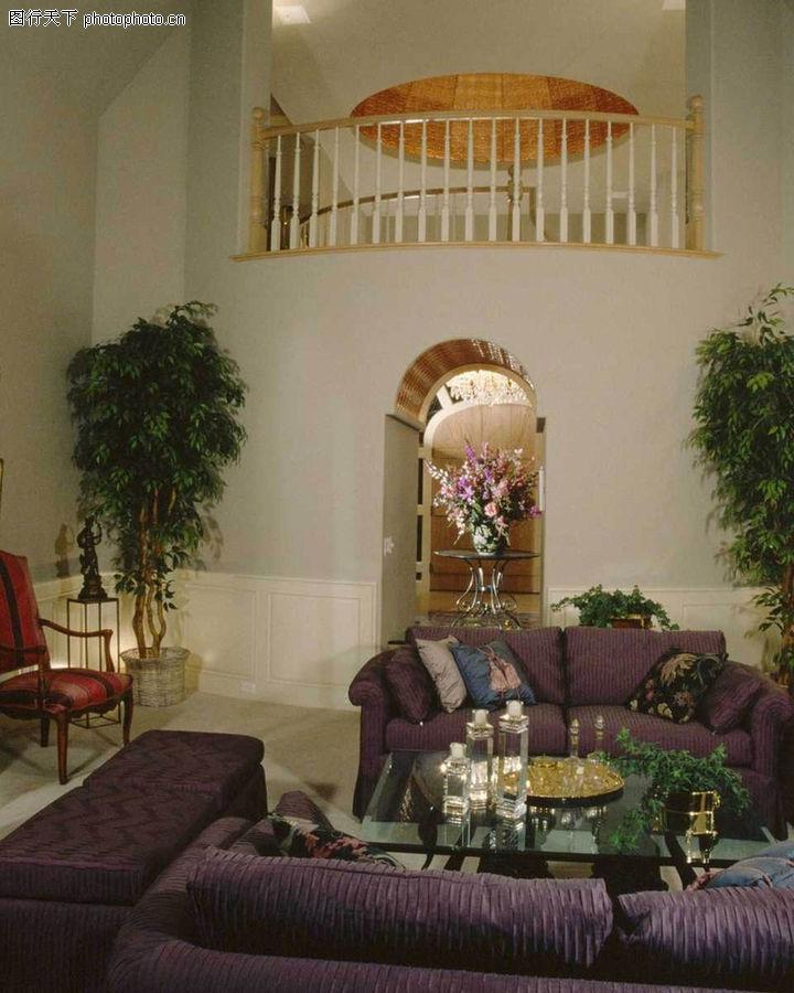 客厅,装饰,楼梯 兰花 阁楼
