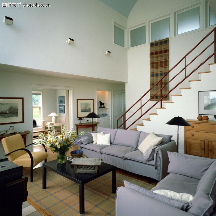 室内电视背景墙图片_客厅0072-装饰图-装饰图库-别墅 内景 大厅
