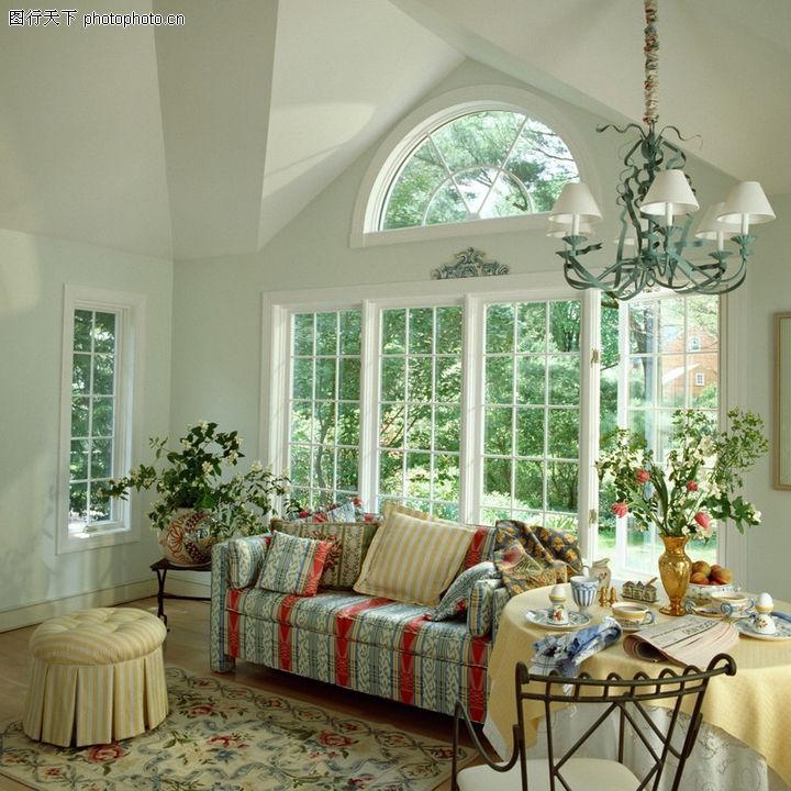 客厅,装饰,沙发 窗户 玻璃