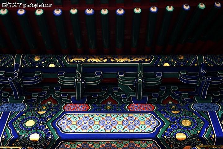 古代建筑0095 古代建筑图 中华图片图库 吊灯 房梁 古图案图片