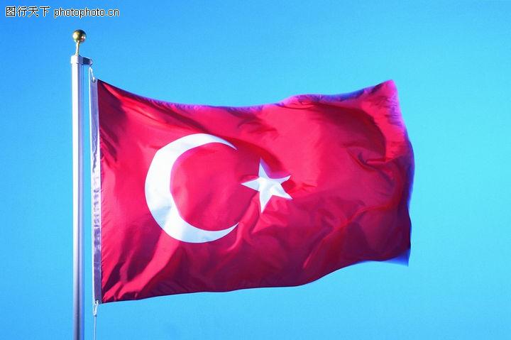 土耳其 国旗 白色