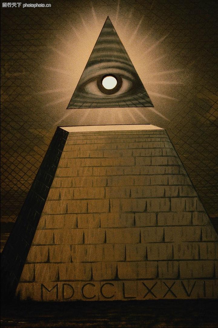 风景图画 广告创意 塔顶 分离 眼睛