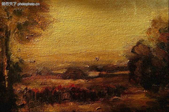 风景图画,广告创意,秋天 树叶 黄色,风景图画0096