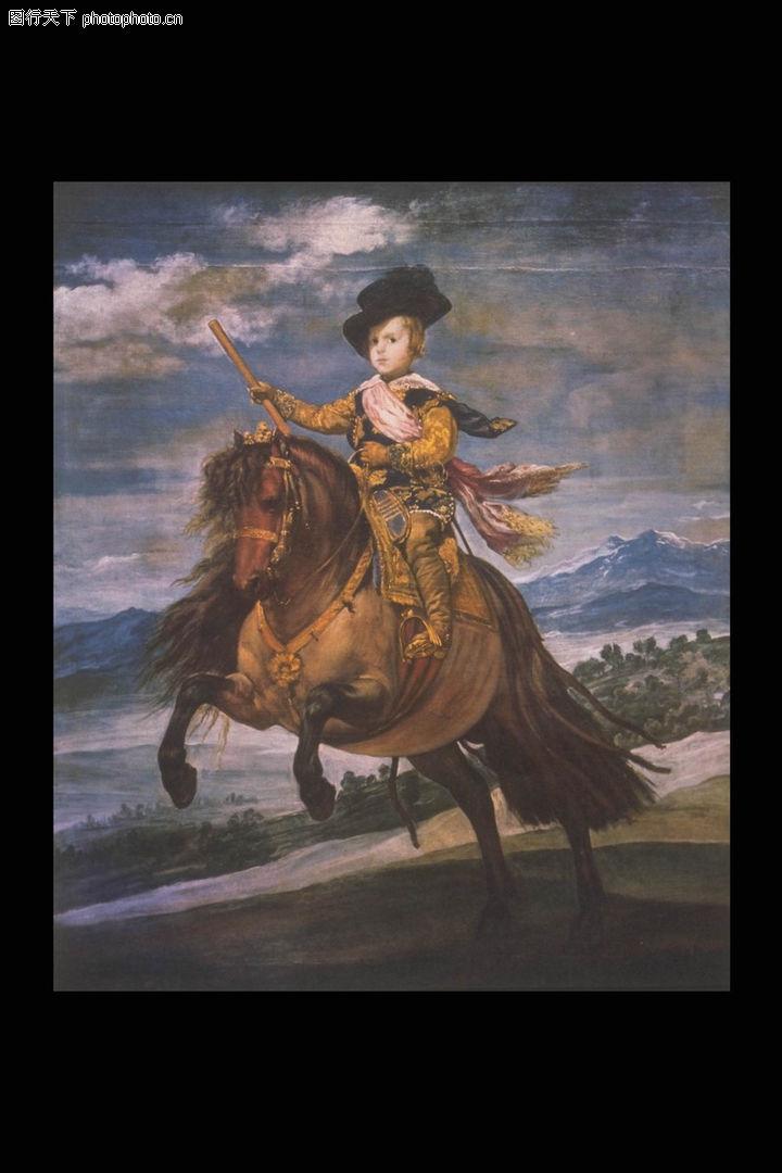 人物油画,艺术,骑马 飞腾