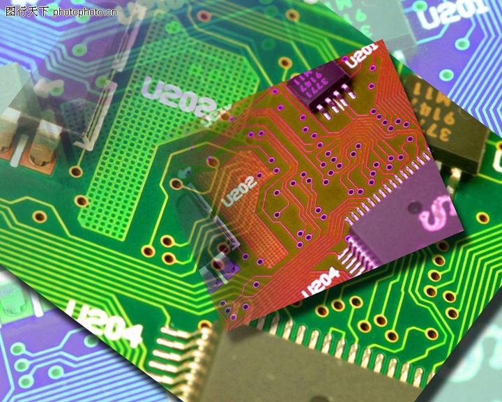 电子艺术 科技 密集 电路 印板