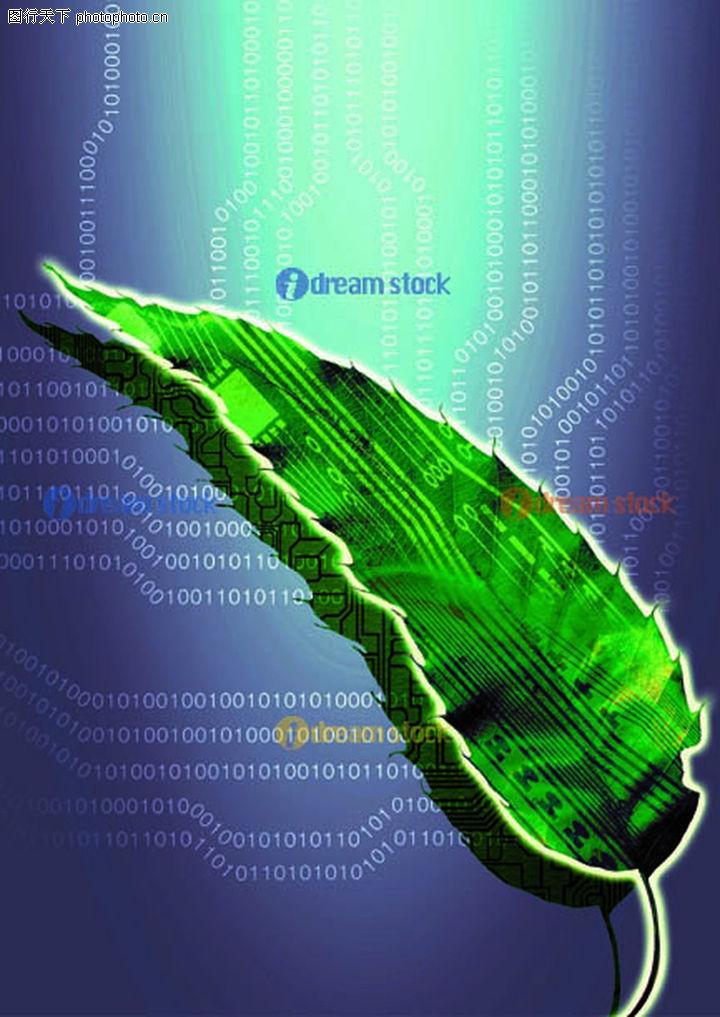 绿色科幻风景素材