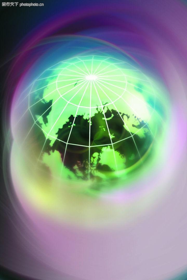 数字地球0016 数字地球图 科技图库 地球 俯视 模糊图片