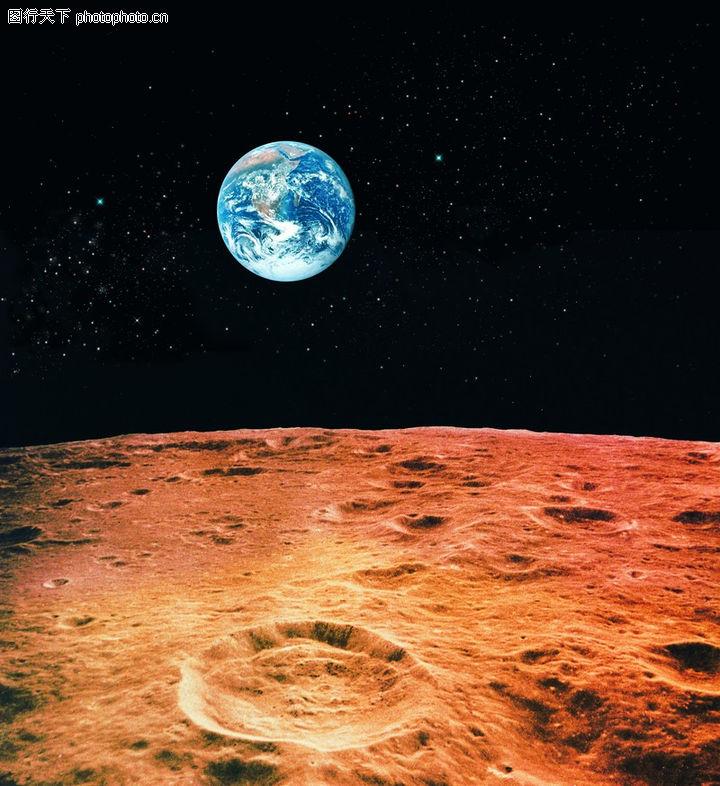 月亮太空图