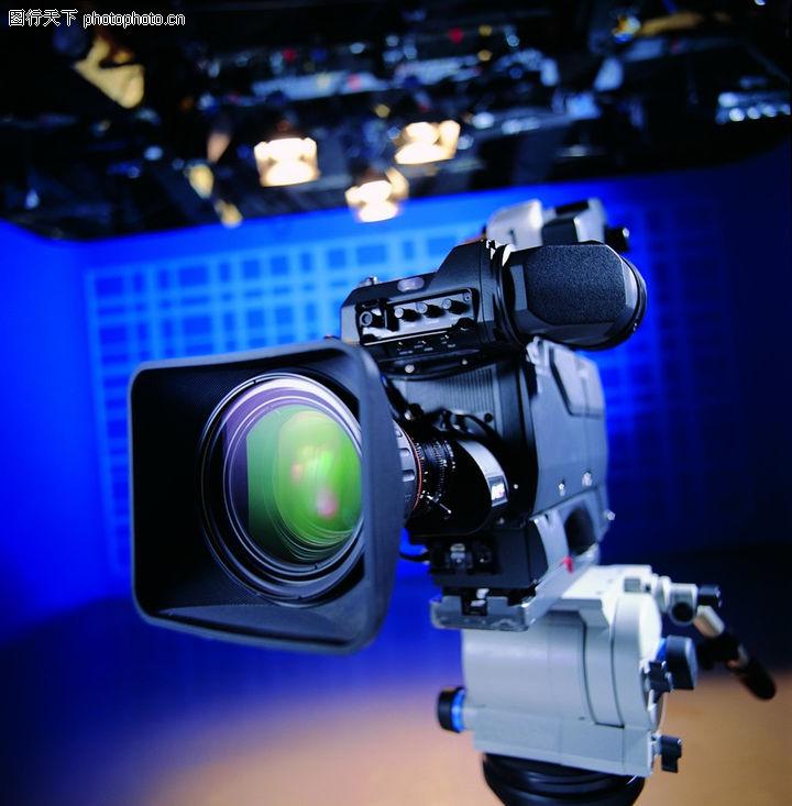 影视制作,科技,工作室 蓝色背景 机器,影视制作0115
