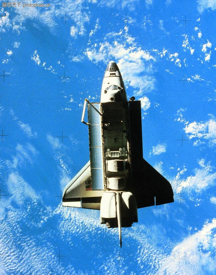 宇宙探索,科技,蓝天白云 仰拍 空机舱 ,宇宙探索0176
