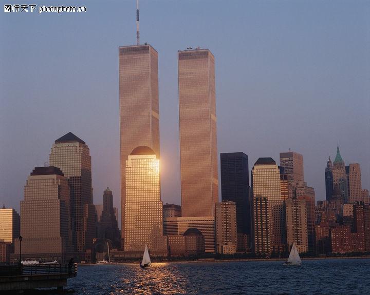 美国风景,世界风光,建筑群 对称 沿海,美国风景0200