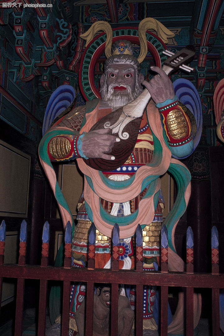 韩国佛像; 东方剪影0248; 东方剪影 世界风光 神像 芘芭 弹奏
