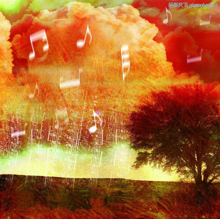 音乐遐想,艺术,自然 音符 跳跃,音乐遐想0020