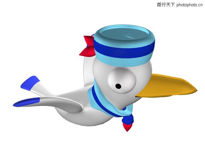 3D图库漫画0040-3D动物图案图-图案动物卡通a图库漫画少女番里图片