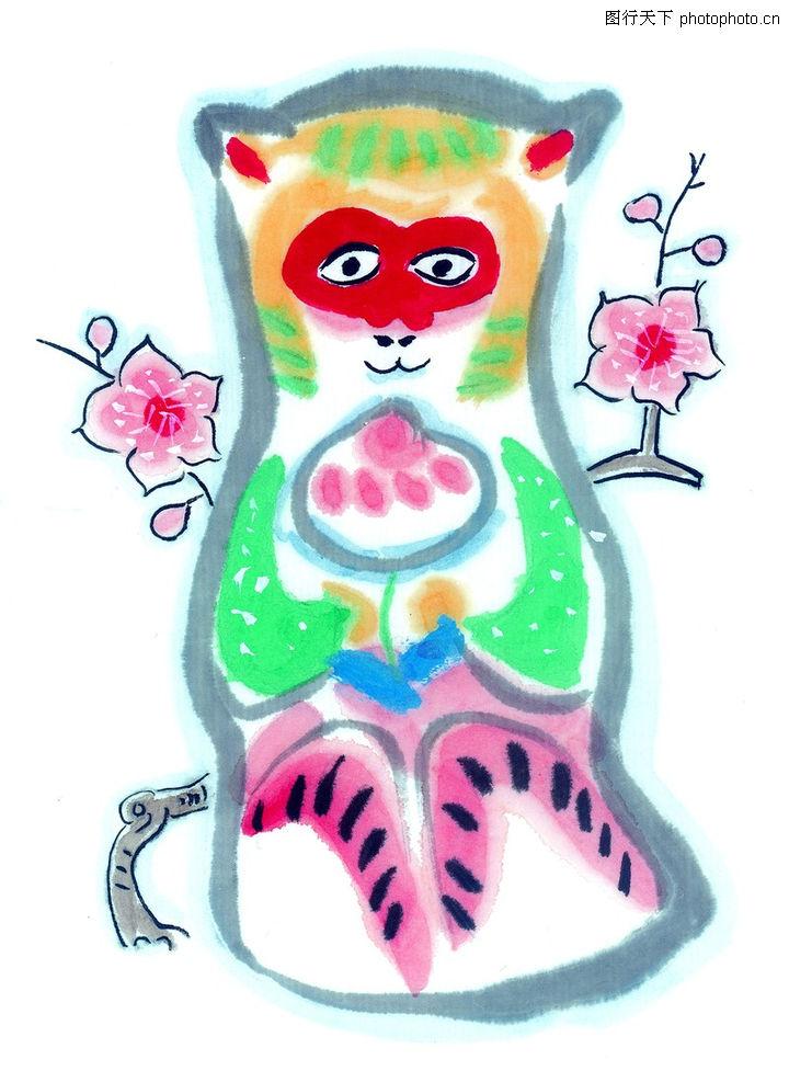 中国动物画,山水名画,猴年