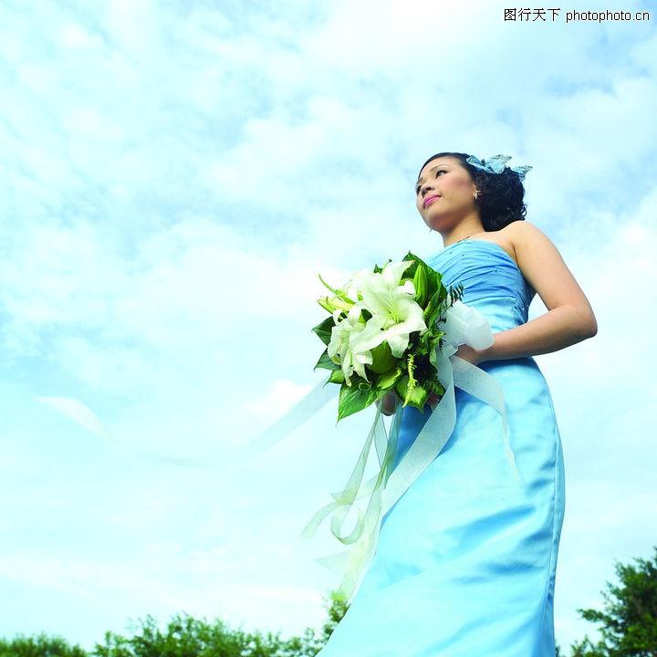 等待幸福,婚纱摄影,白云 蓝天 春天 女人 守候,等待幸福0001