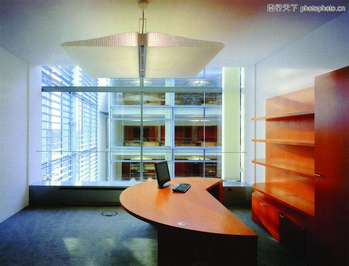 现代室内,室内,书桌 弧形 电脑,现代室内0030