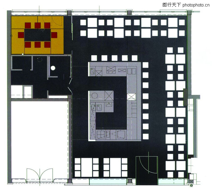 餐厅电路分布图