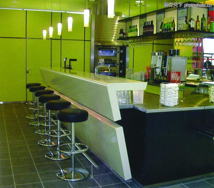 餐厅设计,餐饮,吧台 坐椅 吧台灯,餐厅设计0056