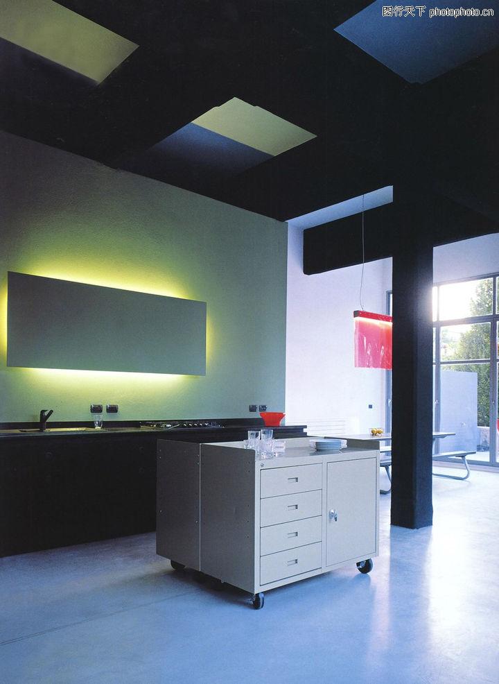 厨房设计,餐饮,矮柜 吊顶 光线,厨房设计0036