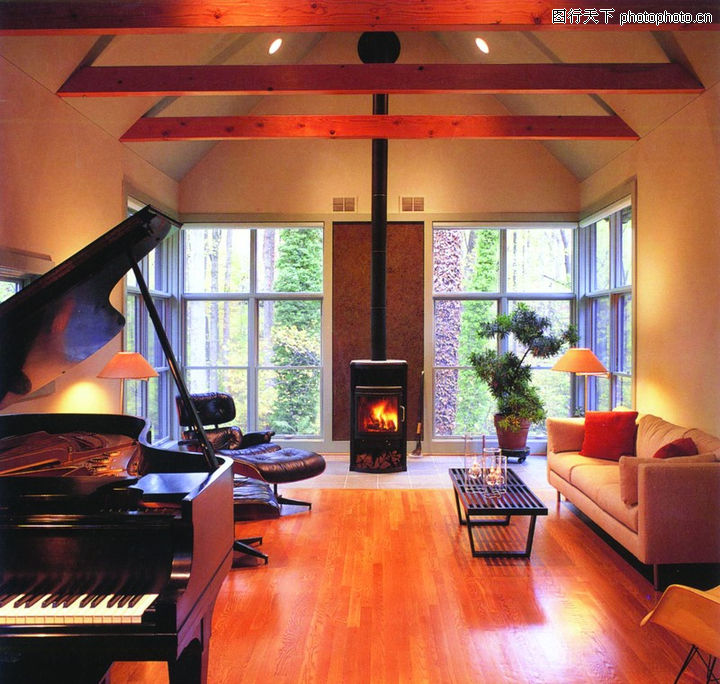 世界最好的100栋别墅,别墅,吊顶 钢琴 生活,世界最好的100栋别墅0028
