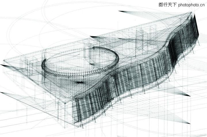 世界建筑设计,朦胧钢琴盖
