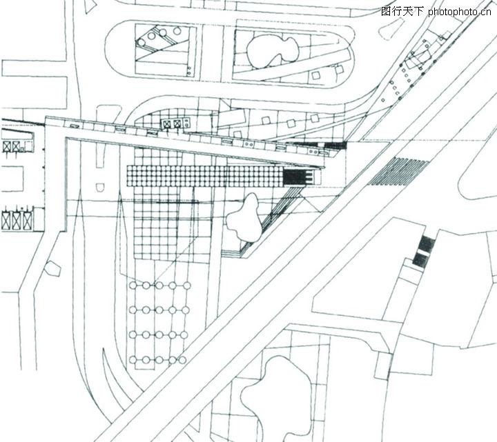 瑞士,世界建筑设计,直线 图案 黑白图,瑞士0003