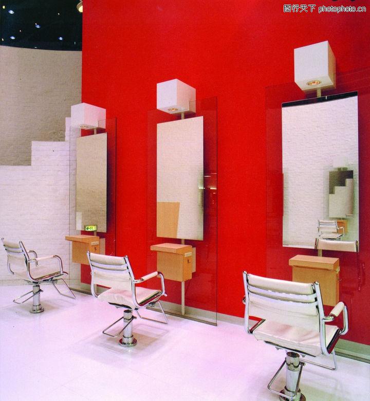 美发厅设计,美容美发,美发厅 椅子 设施,美发厅设计0016