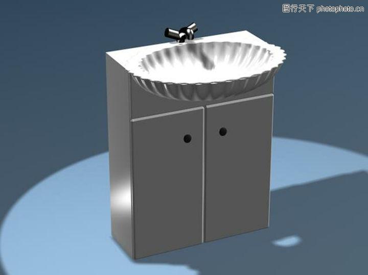 手盆,厨卫模型,手盆0015
