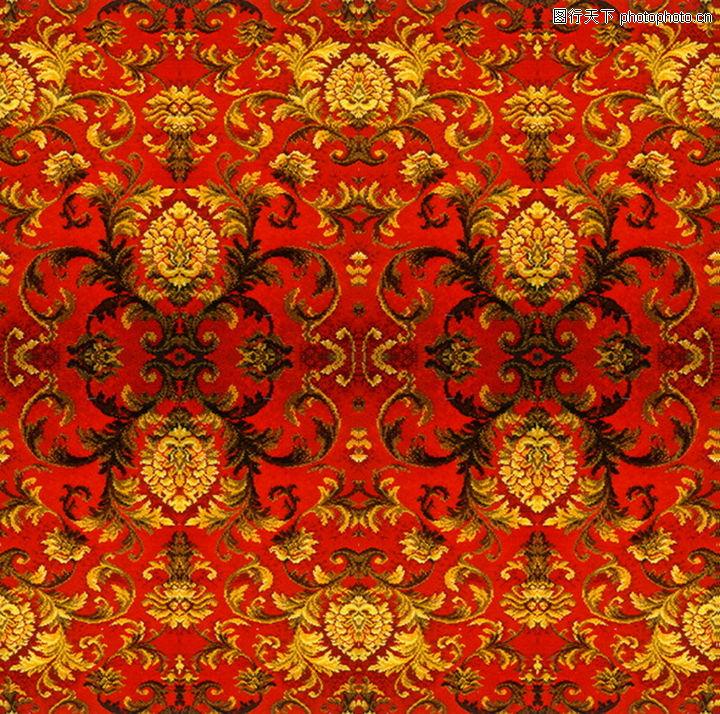 印花布料材质贴图; 布艺,布纹,布艺0238; 古典花卉图案地毯 图片