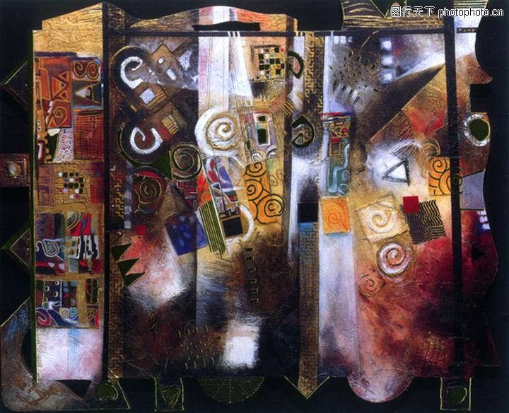 抽象画,墙饰画,抽象画0003