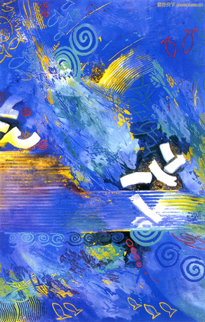 抽象画,墙饰画,抽象画0037