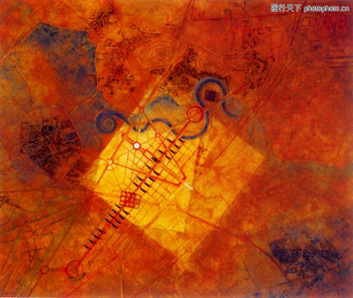 抽象画,墙饰画,抽象画0040