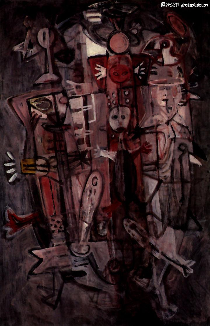 抽象画,墙饰画,抽象画0051