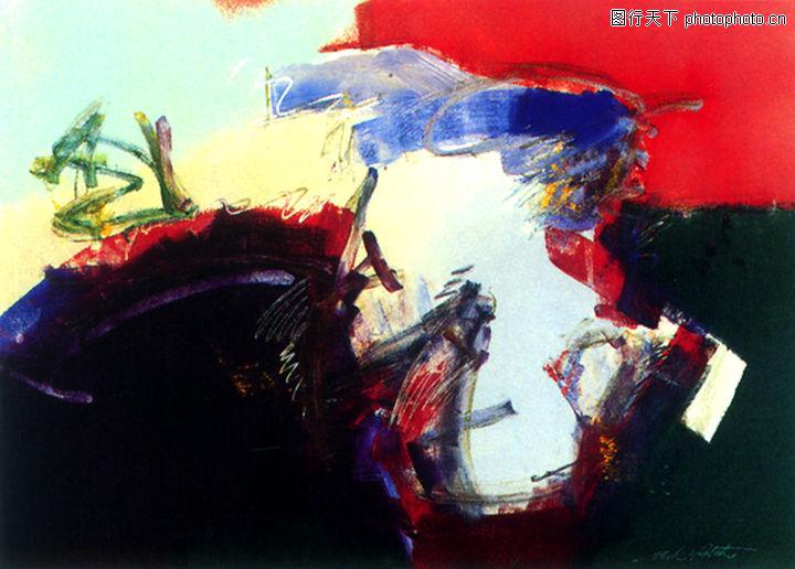 抽象画,墙饰画,抽象画0095