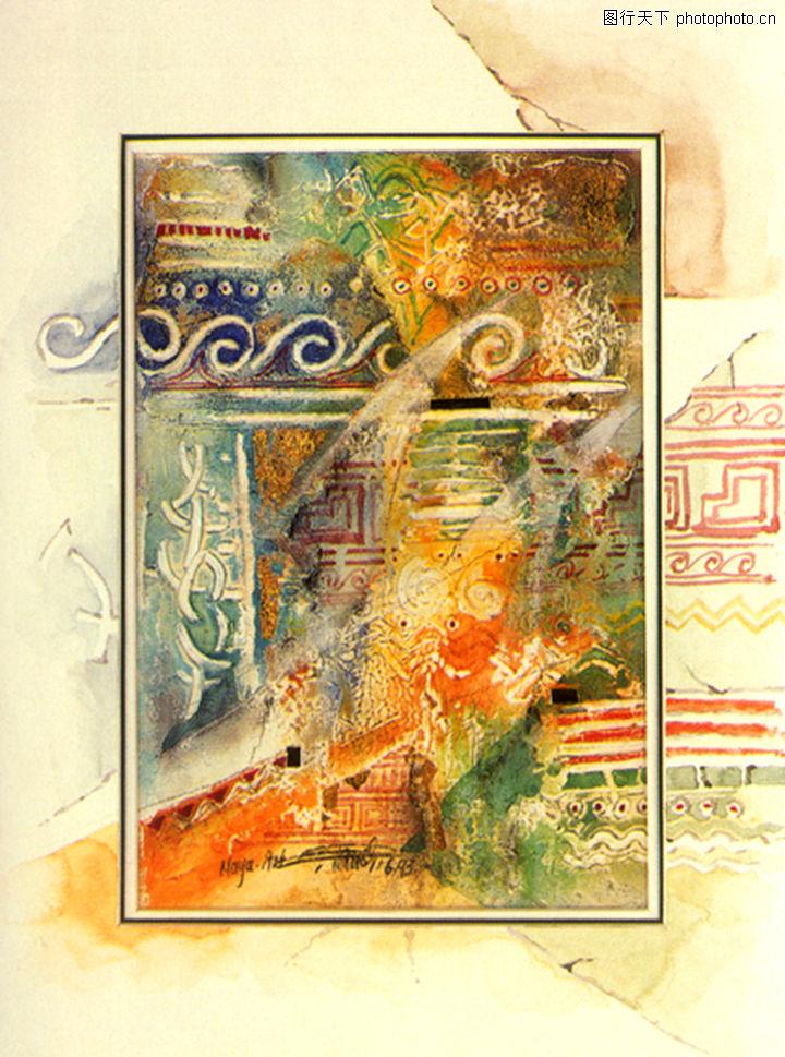 抽象画,墙饰画,抽象画0105