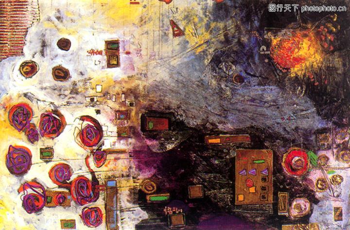 抽象画,墙饰画,抽象画0108