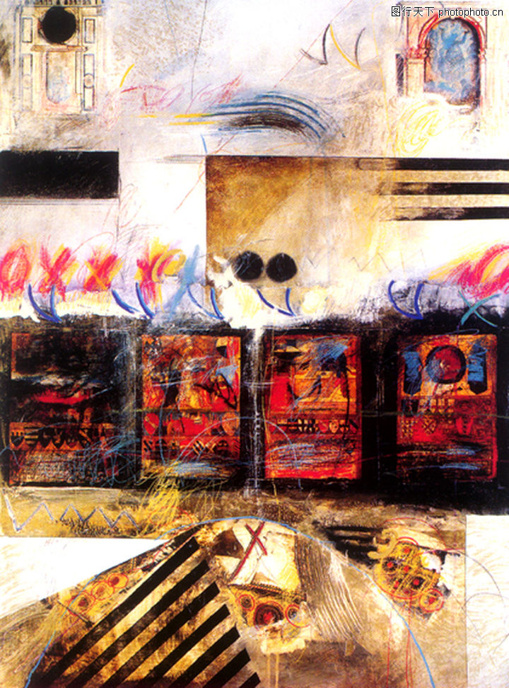 抽象画,墙饰画,抽象画0119