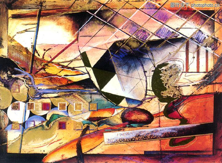 抽象画,墙饰画,抽象画0121
