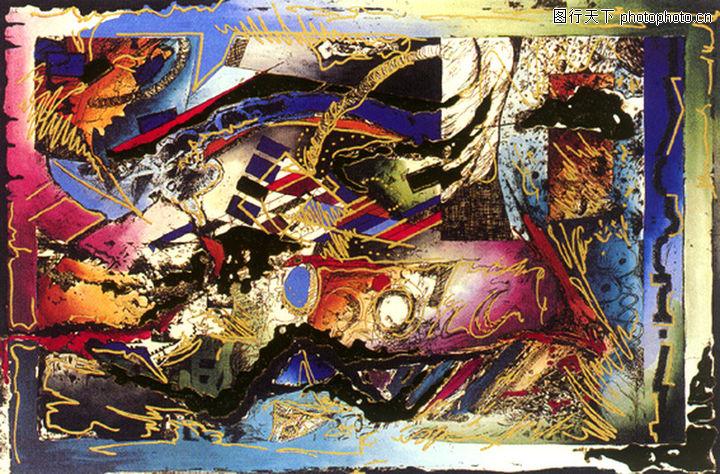 抽象画,墙饰画,抽象画0129