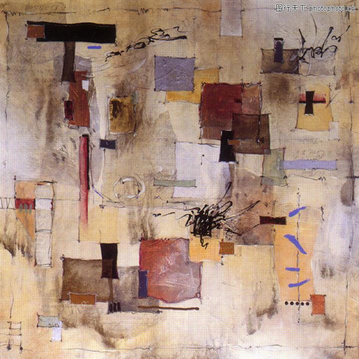 抽象画,墙饰画,抽象画0138